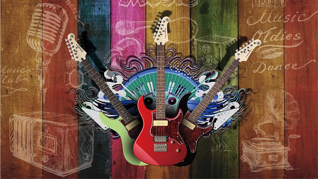 音符手绘背景乐器手绘乐器音乐乐器手绘音乐吉它