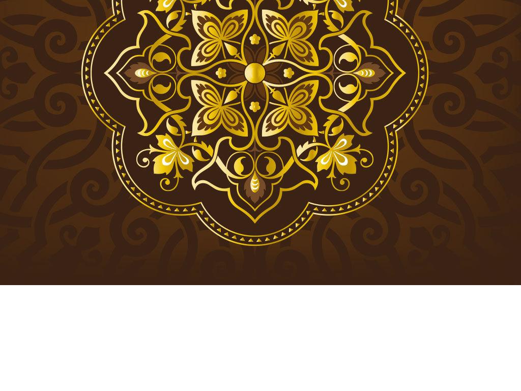 新年贺卡边框花纹手绘
