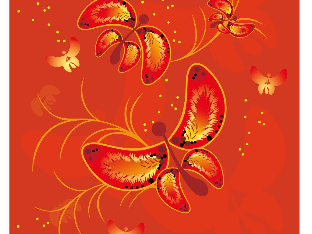 花瓣                                  叶子文字手绘