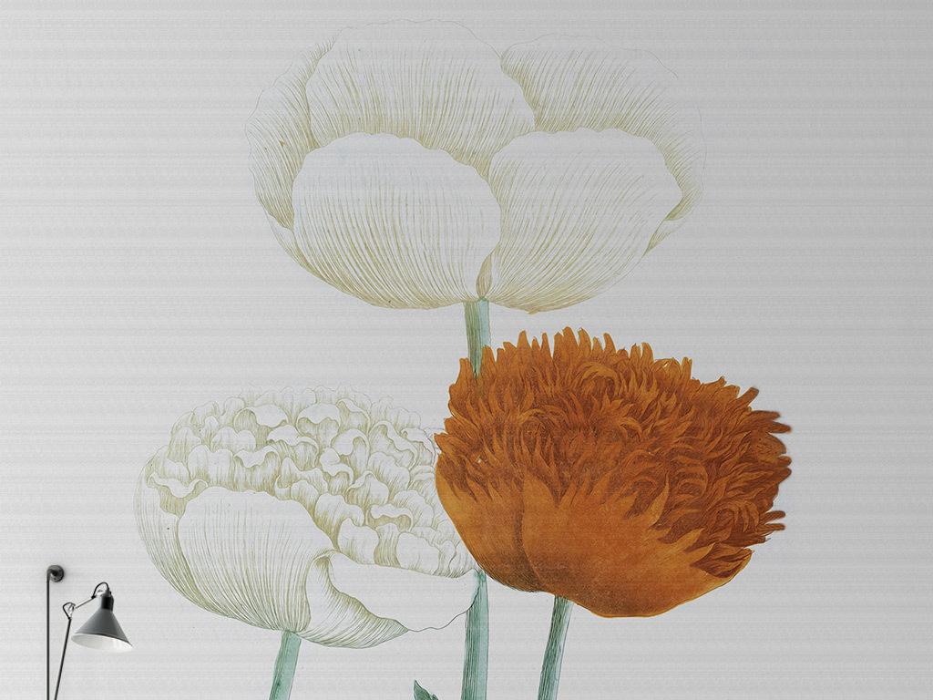 欧美郁金香图片手绘背景手绘花朵花朵欧式背景欧式花朵手绘欧式高清背