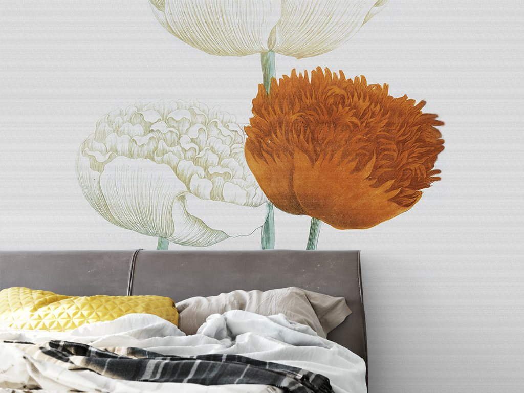 欧美郁金香图片手绘背景手绘花朵花朵欧式背景欧式花朵手绘欧式高清