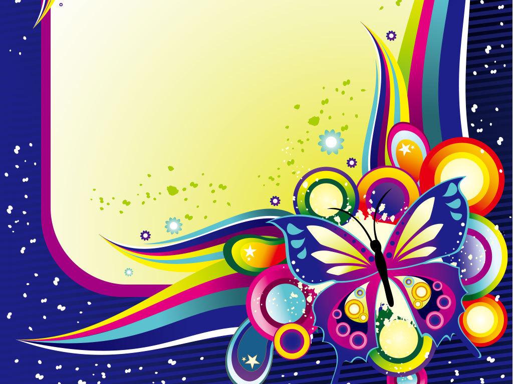 彩色花纹花朵古典底纹背景图