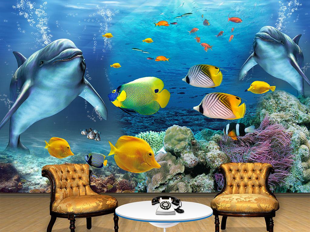 """【本作品下载内容为:""""海底世界海豚海洋小鱼电视背景墙""""模板,其他内容仅为参考,如需印刷成实物请先认真校稿,避免造成不必要的经济损失。】 【声明】未经权利人许可,任何人不得随意使用本网站的原创作品(含预览图),否则将按照我国著作权法的相关规定被要求承担最高达50万元人民币的赔偿责任。"""