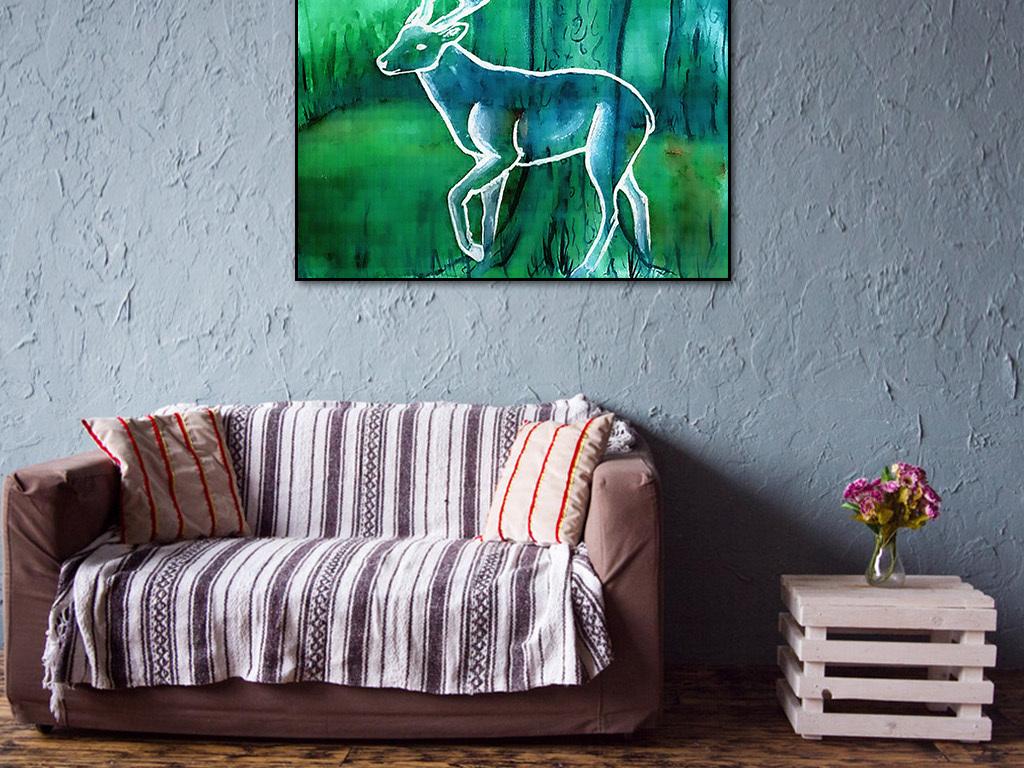 动物森林装饰画