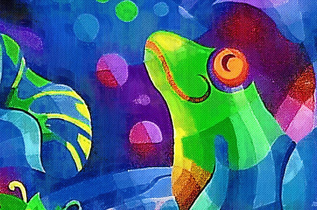 色彩动物装饰画
