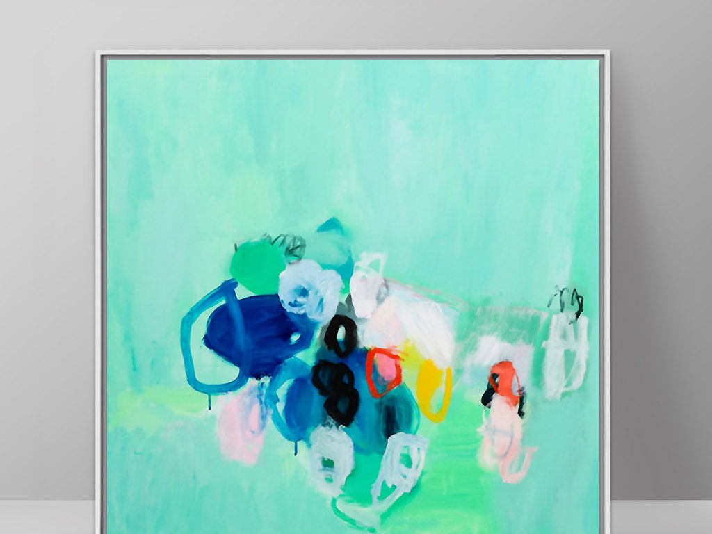 无限遐想地中海风格现代抽象画派欧式装饰画