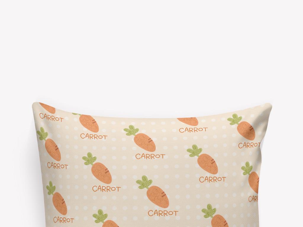 清新手绘萝卜抱枕