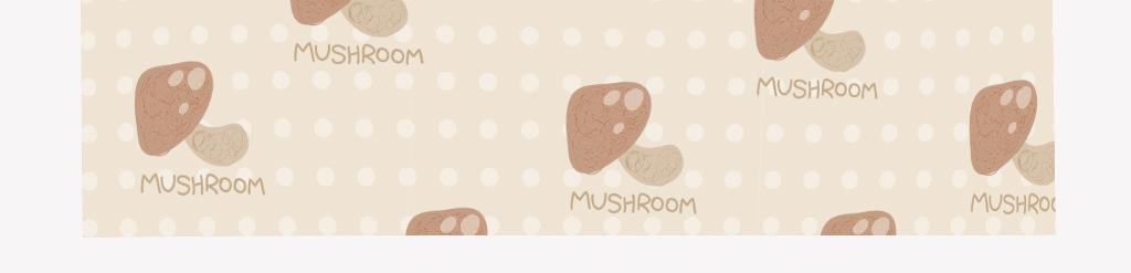 清新手绘香菇抱枕