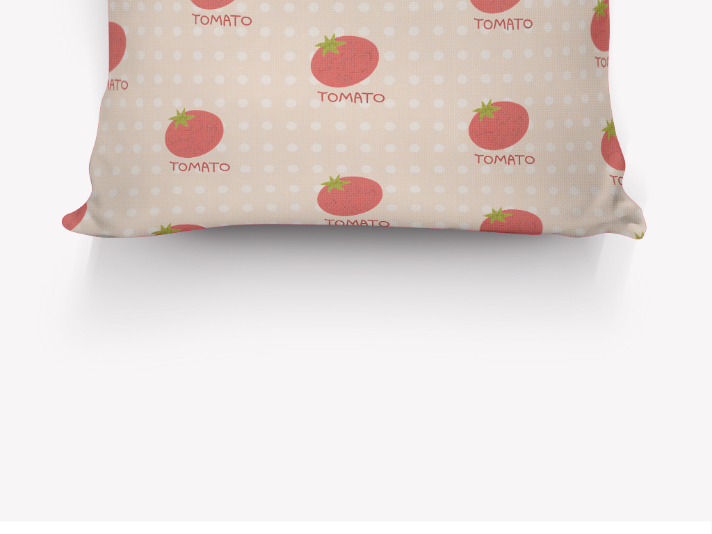 清新手绘西红柿抱枕