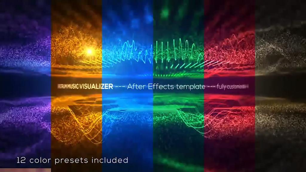 音频频谱音乐可视化工具ae模板
