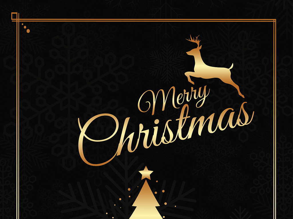 背景宣传海报圣诞金色模板酷黑诞节金色简约金色圣酷黑模板圣诞节素材
