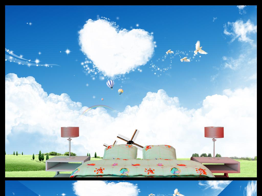 幼儿园花海鲜花3d背景墙孩子宝宝女孩男孩梦幻学生沙