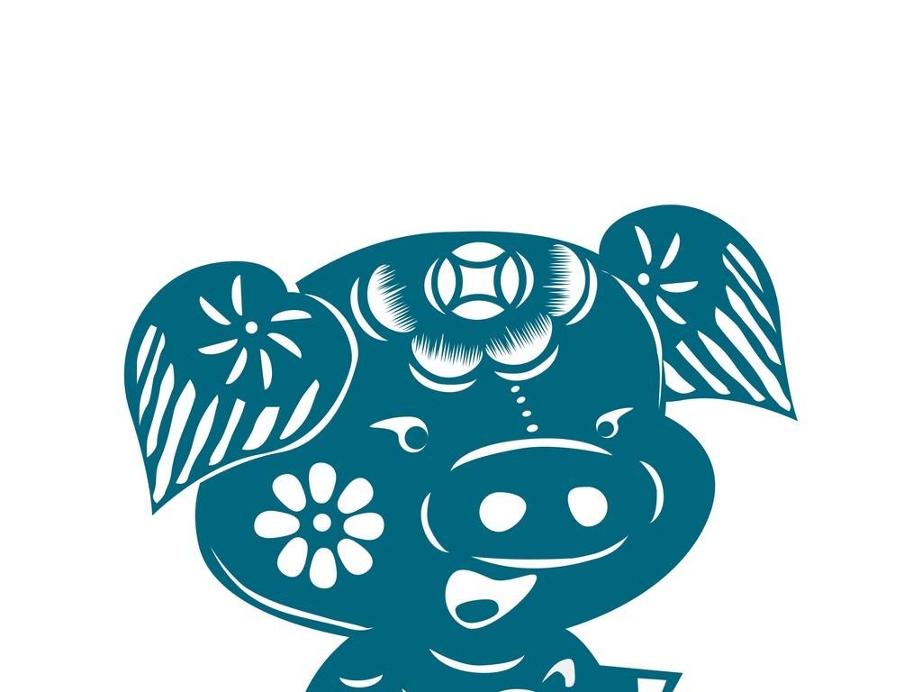 中国风动物剪纸