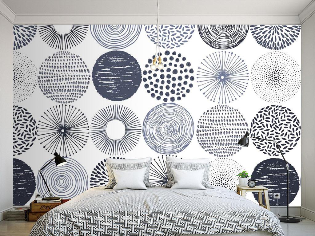 室内手绘枕头线稿