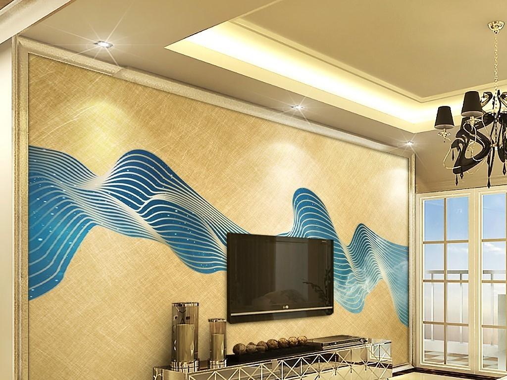 背景墙|装饰画 电视背景墙 欧式电视背景墙 > 金色抽象线条金箔星空图片