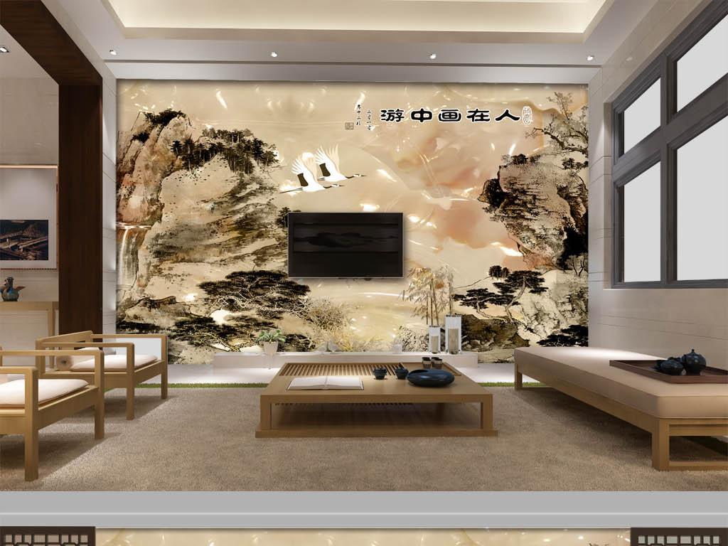 我图网欧式3d电视瓷砖墙画