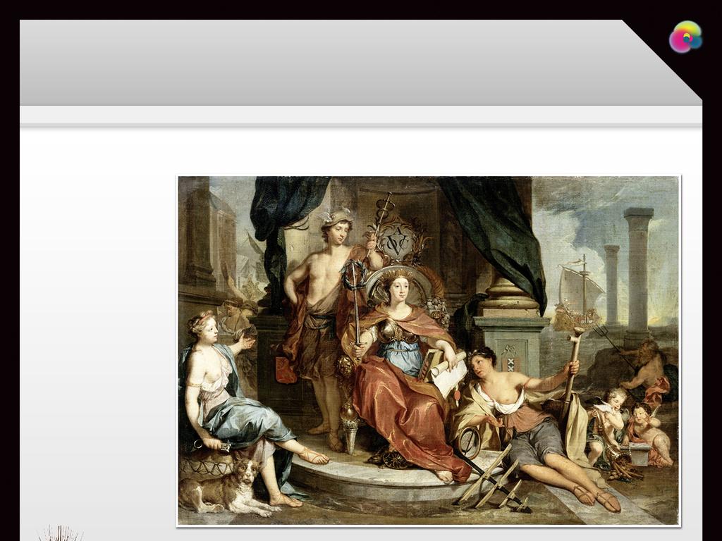 欧式高清手绘圣母圣婴与小天使古典油画玄关