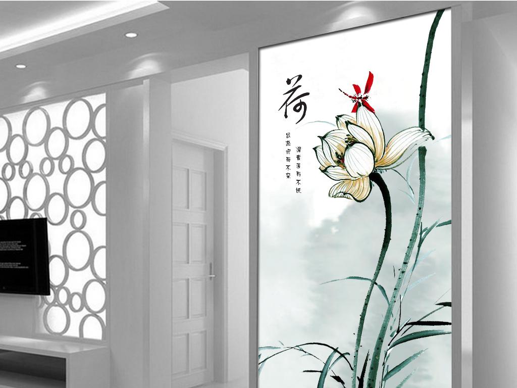 新中式主卧手绘背景墙分享展示