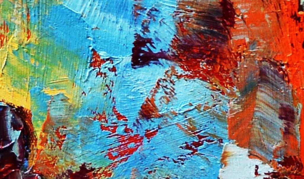 北欧现代简约抽象手绘油画装饰画