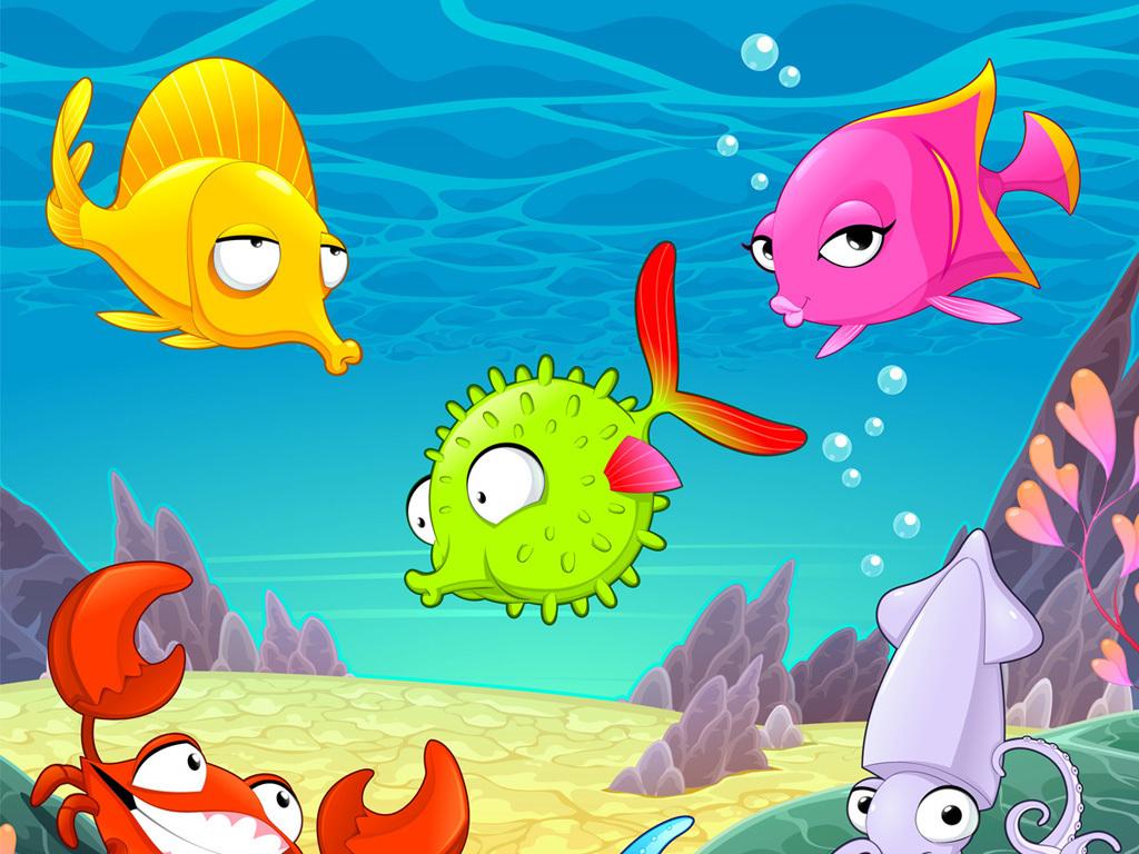 精美时尚可爱卡通海底世界