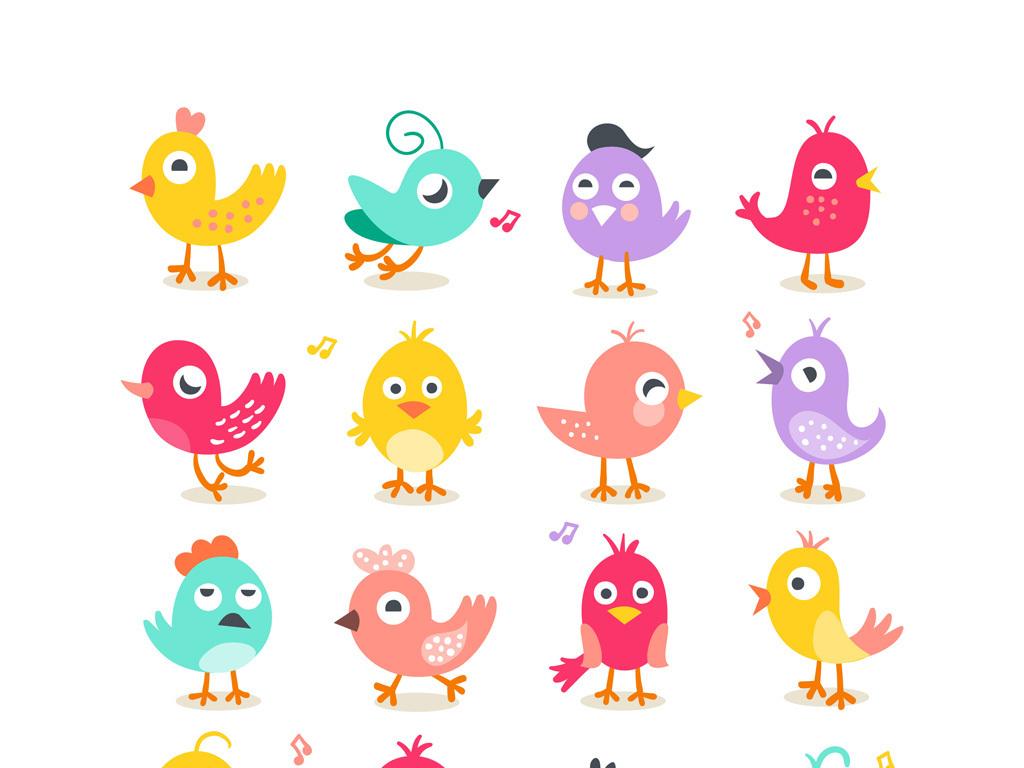 可爱卡通动物卡通小鸟素材