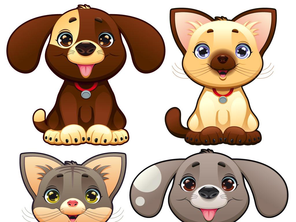 可爱卡通小狗素材