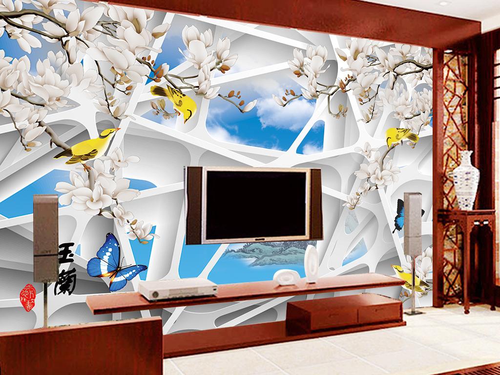 3d多边形几何图形客厅电视背景墙图片
