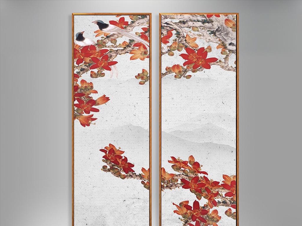 新中式花鸟装饰画图片
