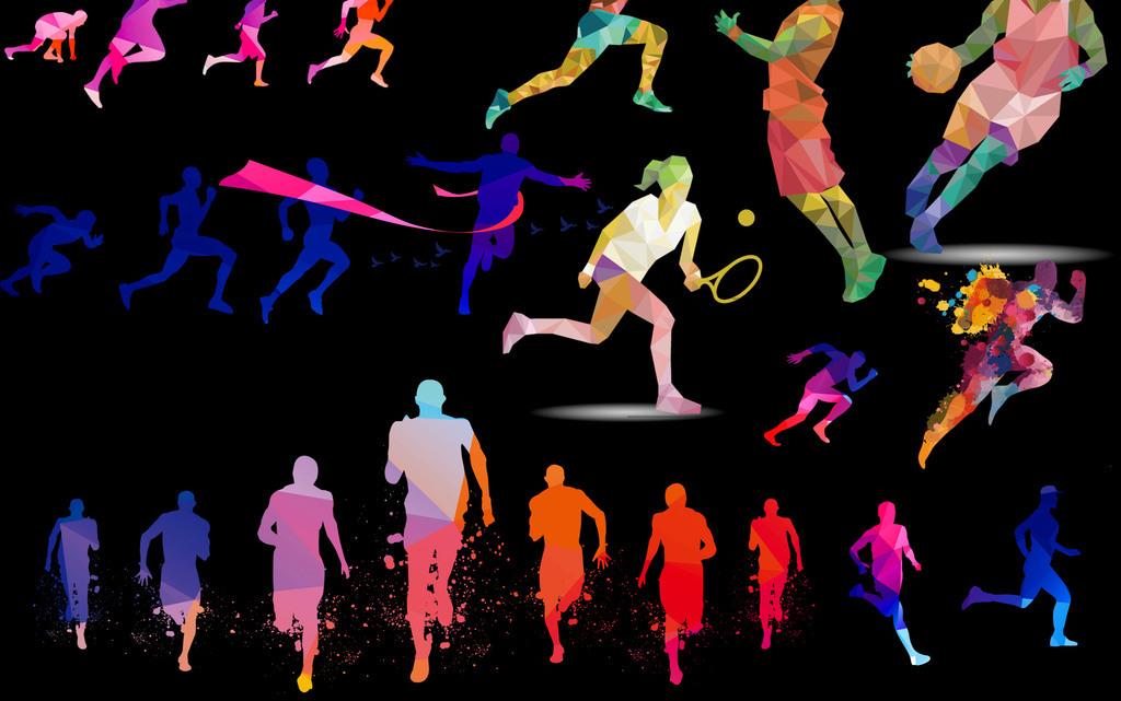 奔跑运动简笔画