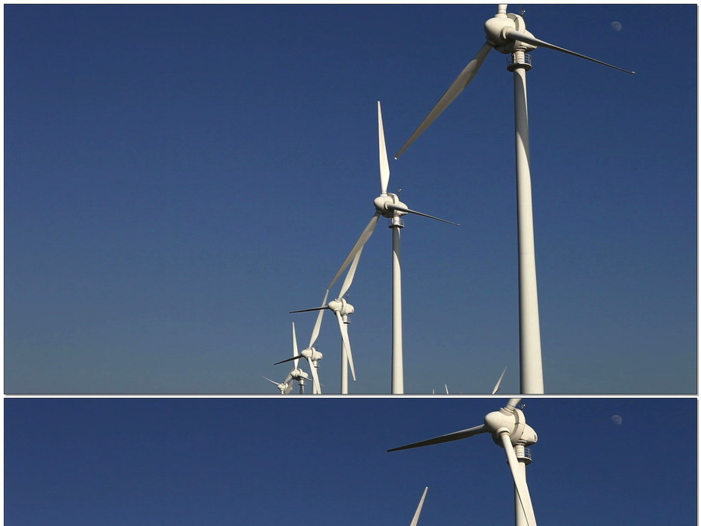 风车发电机图片