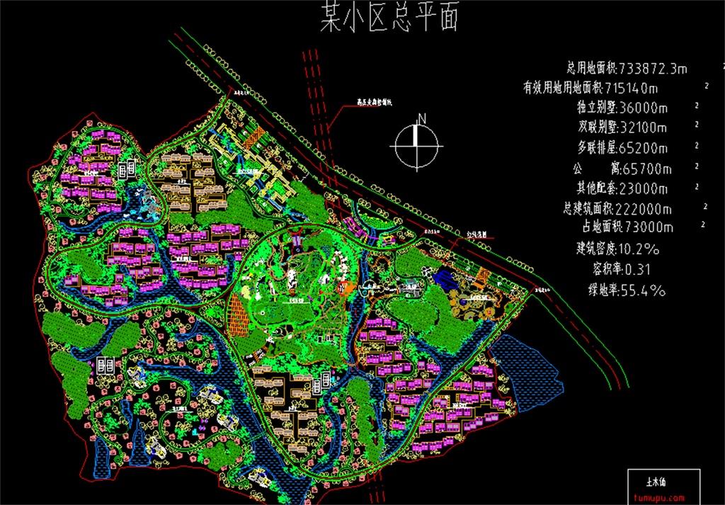某小区建筑CAD总平面图图片