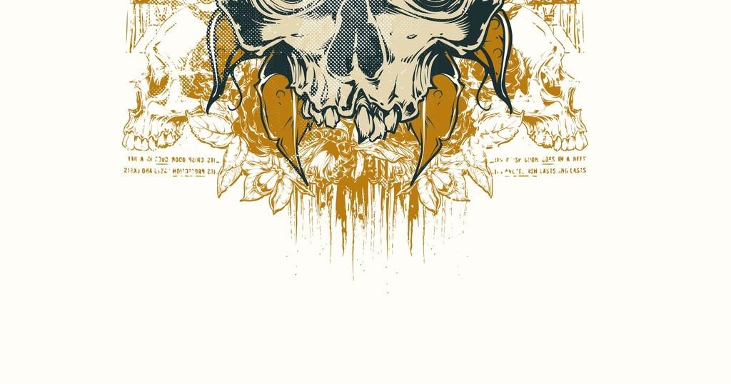 手绘恐怖骷髅头插画矢量素材骷髅元素插画设计元素