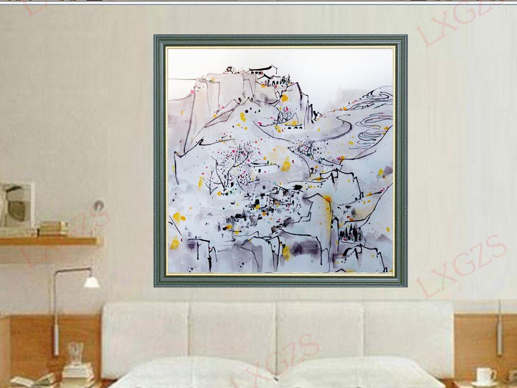手绘山水装饰画