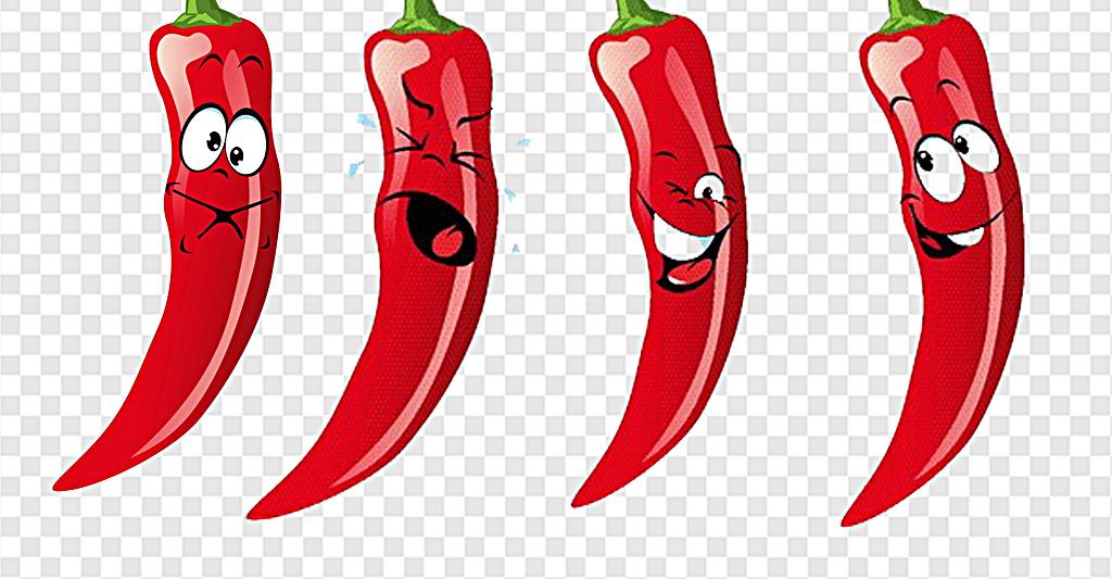 红色辣椒卡通表情图片