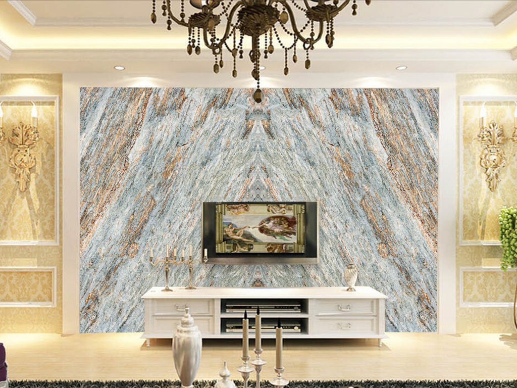 我图网提供精品流行高清大理石纹背景墙装修石材沙发
