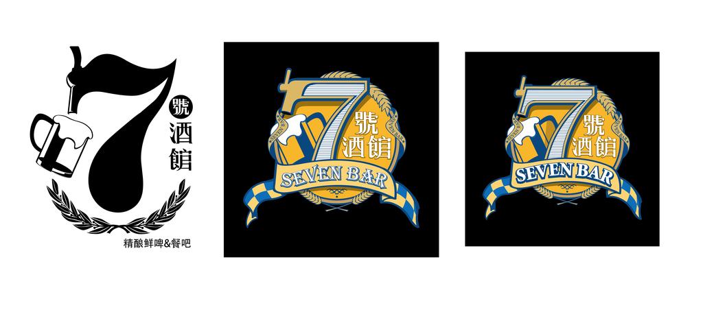啤酒品牌酒吧朋克风格细腻logo标志矢量模版设计图片