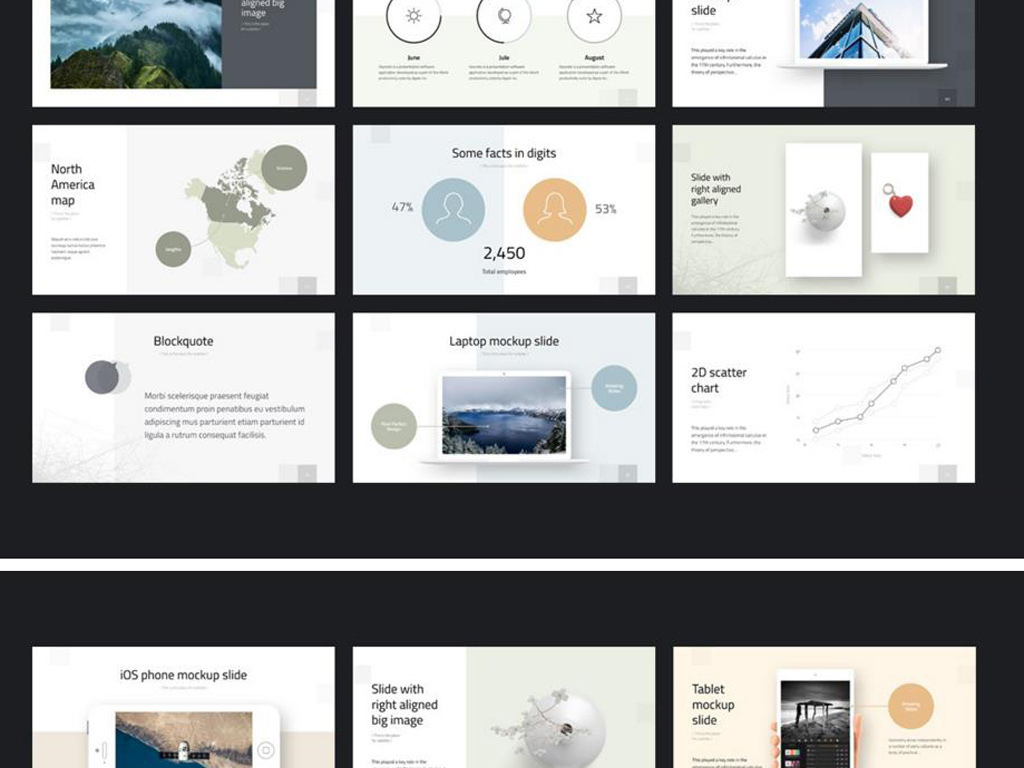 ios7杂志风格商务创意PPT模板