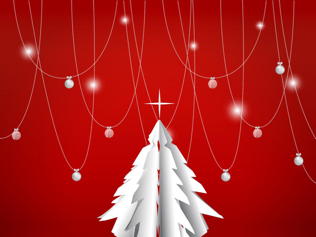 简约创意圣诞节快乐海报设计素材图片