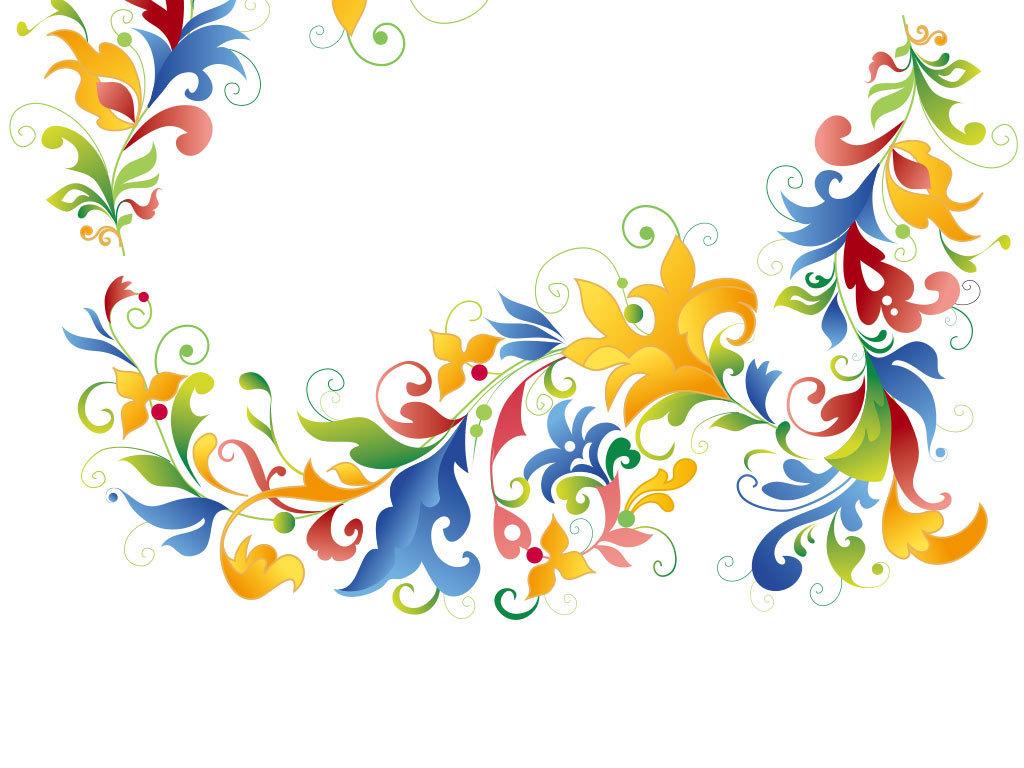 叶子文字手绘水彩花朵底纹背景手绘花朵背景彩绘花纹底纹边框