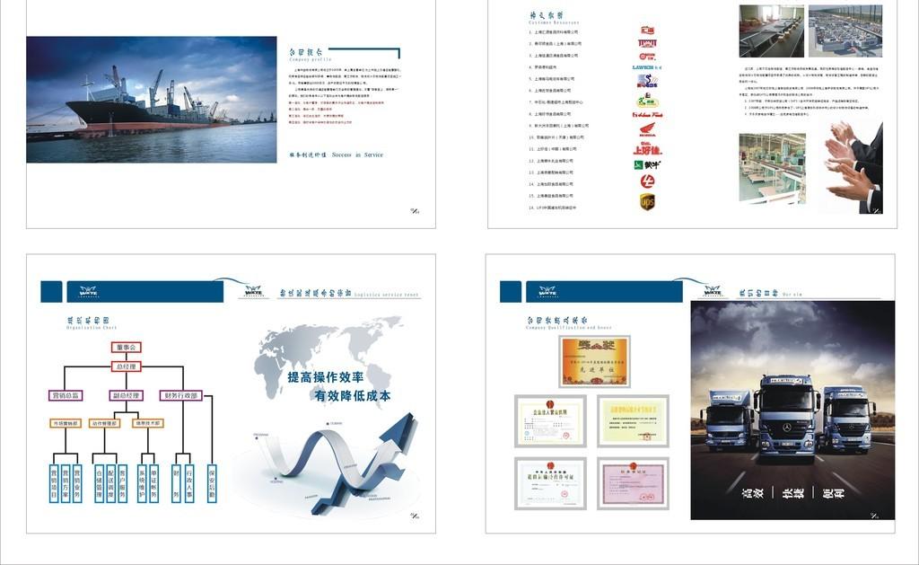 物流业画册设计排版设计杂志样本图片