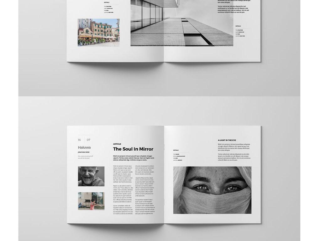 2017年时尚创意公司简介企业宣传册模板图片设计素材图片