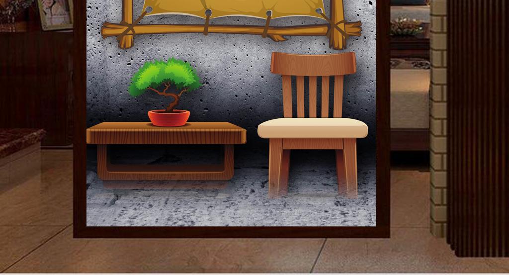 3d立体手绘墙壁美发发型工装玄关