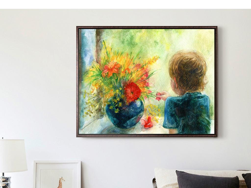 手绘室内装饰画人物装饰画抽象装饰画风景装饰画客厅