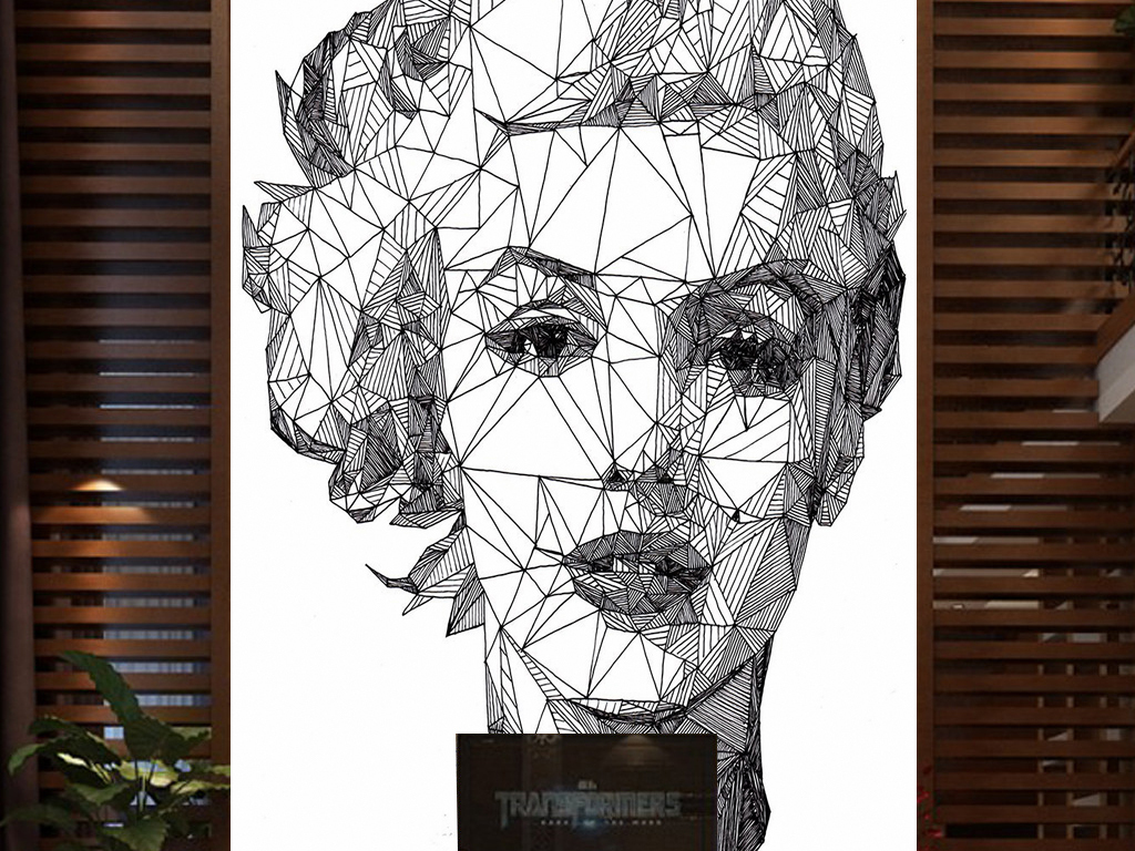 复古风格波普人物彩色女头像装饰画背景墙