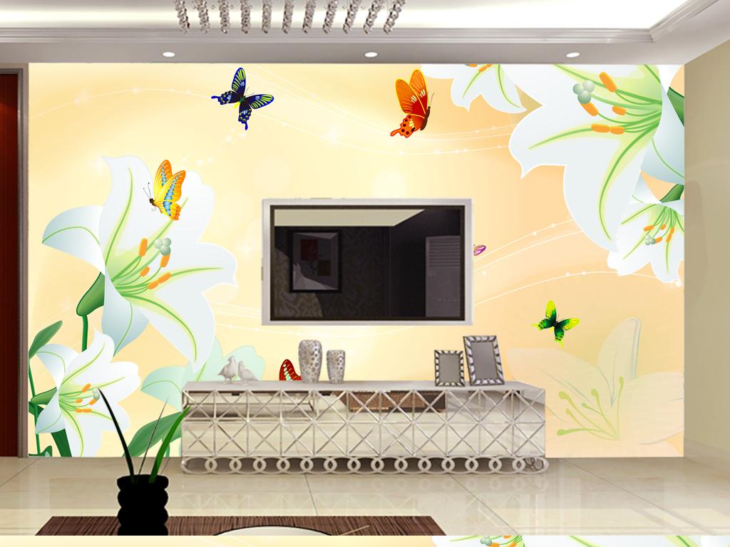 现代背景墙沙发背景墙手绘背景墙墙纸室内装饰画电视