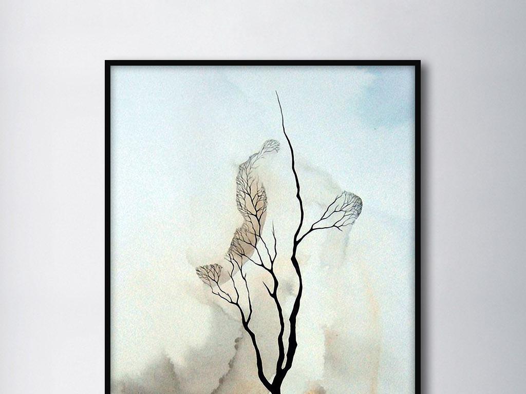 树的迷思欧式手绘现代北欧抽象艺术装饰画