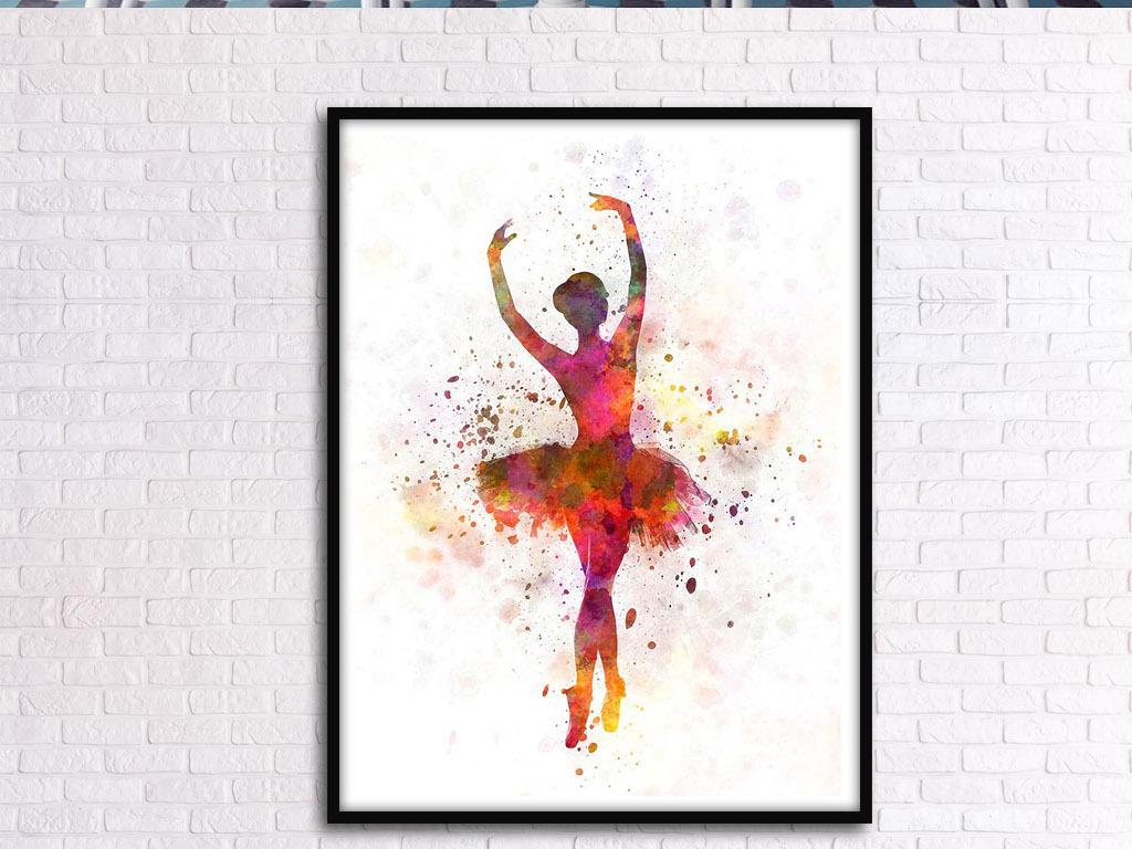 优雅的小天鹅芭蕾舞欧式手绘北欧家居装饰画