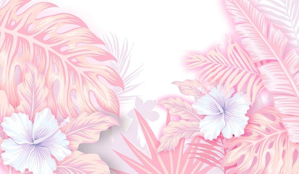 个性创意手绘花朵唯美化妆品素材宣传图片