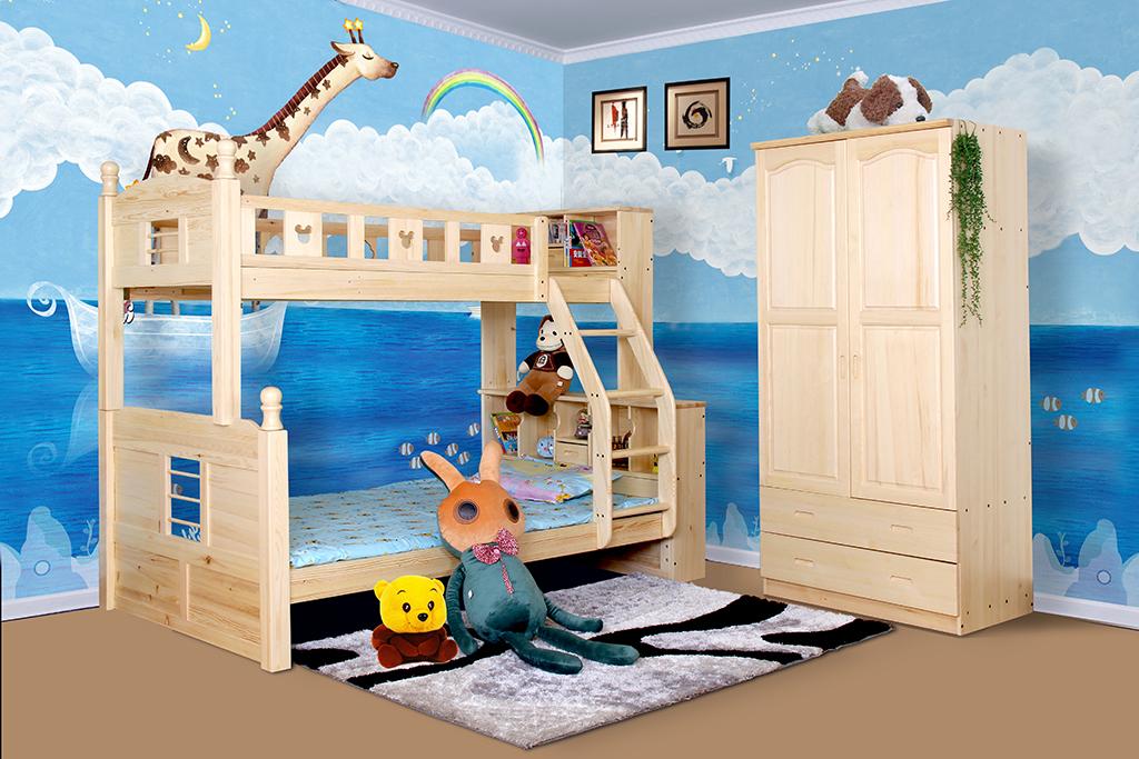 手绘长颈鹿蓝天白云地中海儿童房壁画背景墙