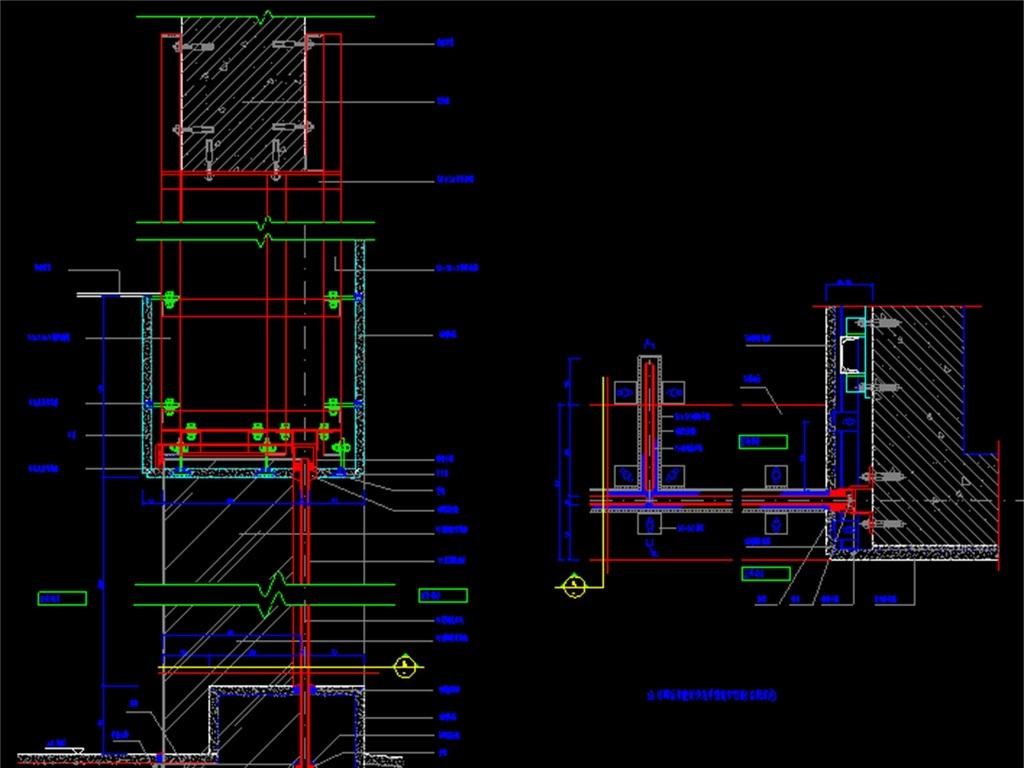 电梯cad建筑施工平面图